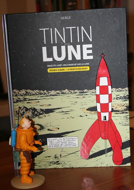 Tintin en combinaison lunaire