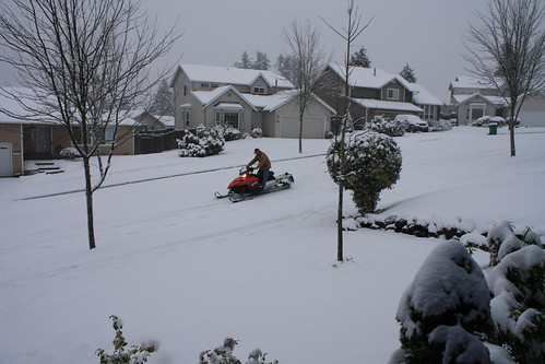 Snowmobiling Neighbor