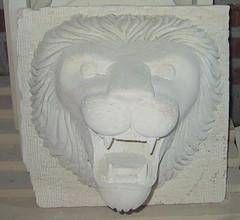 砂岩噴水獅頭ss