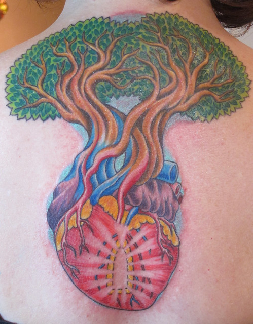 trees and heart