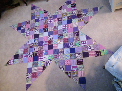 Made in Cherry QAL star by quiltyhabit