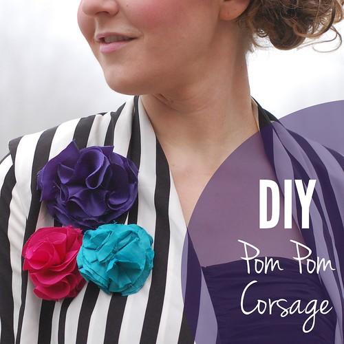 DIY Pom Pom Corsage