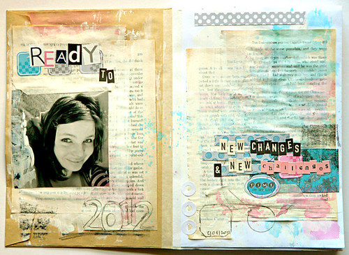 Ready to ... //art journal page