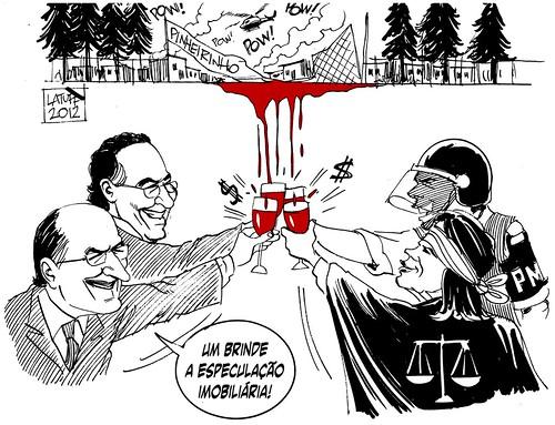 Massacre do Pinheirinho, por Carlos Latuff