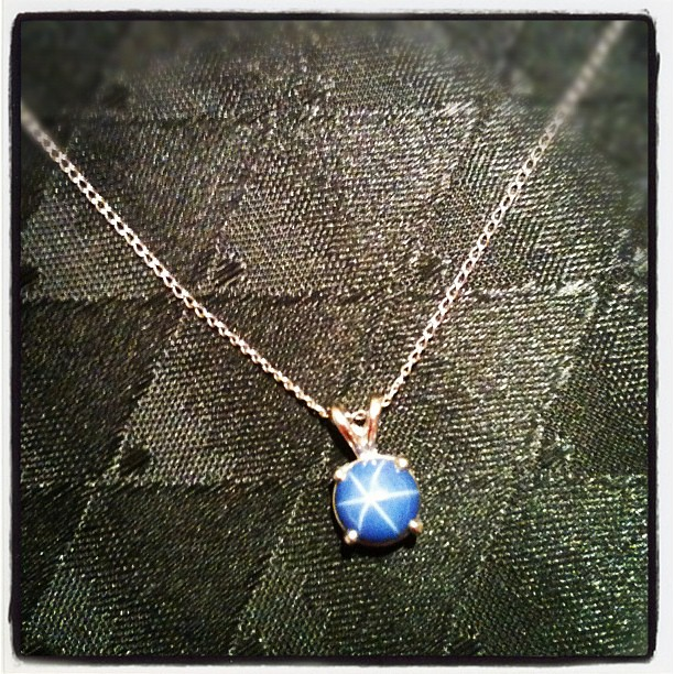 Day 23 The Blue Star Sapphire necklace I inherited from my great aunt. #somethingold #janphotoaday #365 #thebloomforum