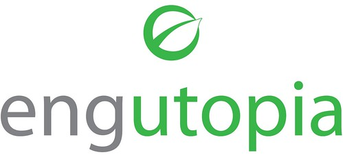 logo by Mark Nicholas Design for green civil engineering firm, Engutopia