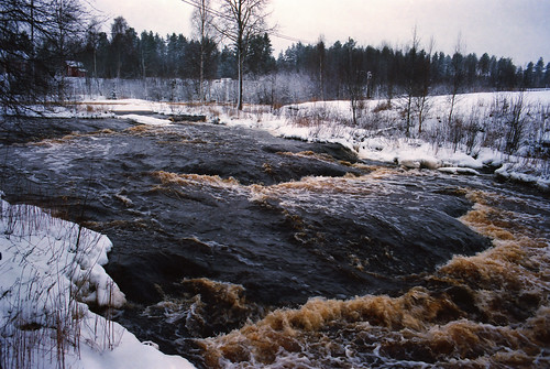 snow water canon river kodak 28mm 100 asa ae1p ektar