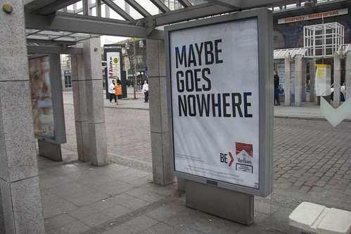 Be > Marlboro advertisment at Bahnhof Zoo in Berlin: Maybe goes nowhere