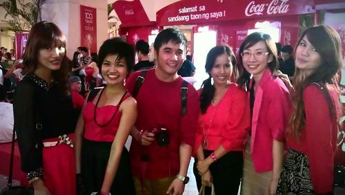 coke bench fashion show