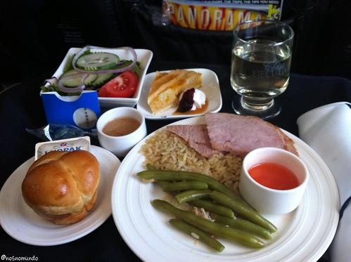 Almoço na executiva da Copa Airlines