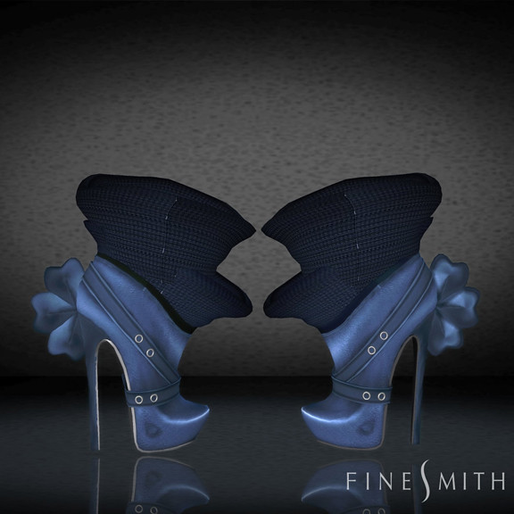 FINESMITH CANDYBIRD BOOTS BLUE
