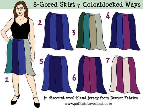8-Gored Skirt 7 Colorblocked Ways