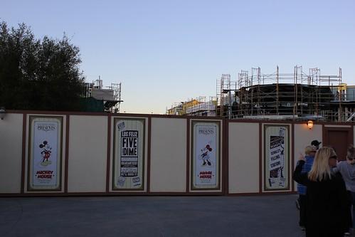 Buena Vista Street construction