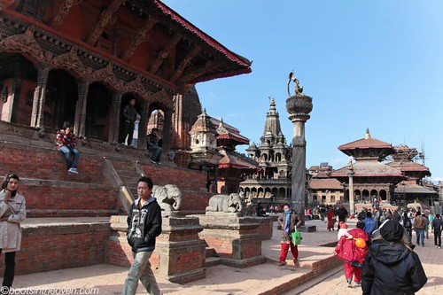 Walking in Patan Durbar Square