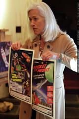 jenny with 50's / B movie stereoscopic print campaig…
