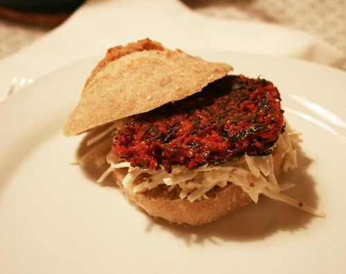 simple, yummy vege-burger