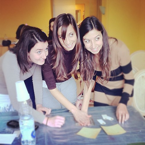 Thegreenfrogstudio Pretty Italian Girls Stamping All At Once By Thegreenfrogstudio