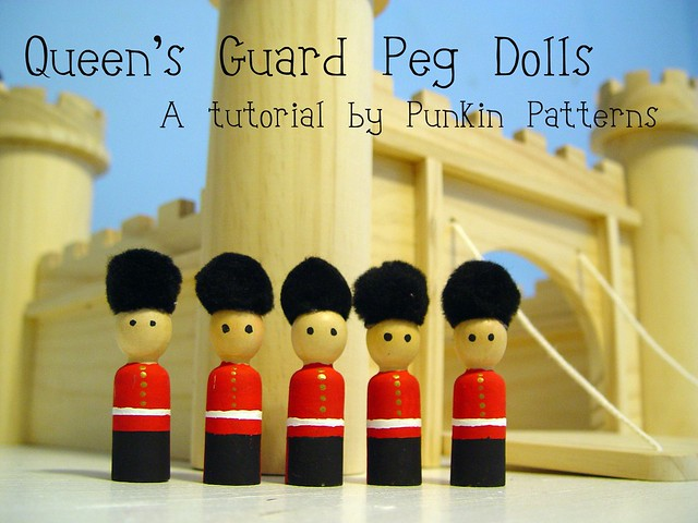 Queens Guard Peg Dolls