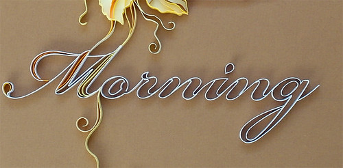 quilled lettering