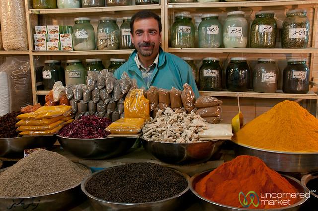 Spice Vendor in Esfahan, Iran