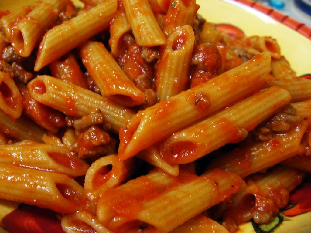 pasta with 10 minute meat sauce