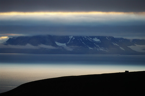 sunset sea night sunrise evening bay view north illumination svalbard overlook spitsbergen colesbukta deepnorth colesbuktabay