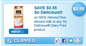 So Delicious New Almond Plus Almond Milk Coupon