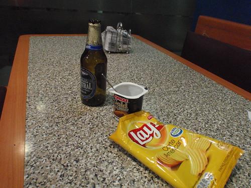 Dinner at Santiago airport