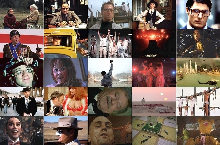 70's Movies quiz grid