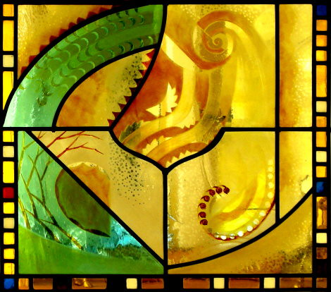 Section from the Fibonacci-Malvern window