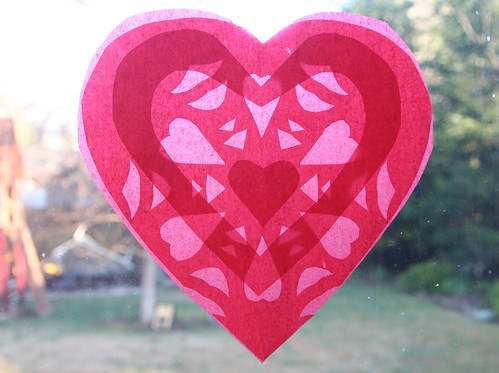 Red and Pink Heart Transparency