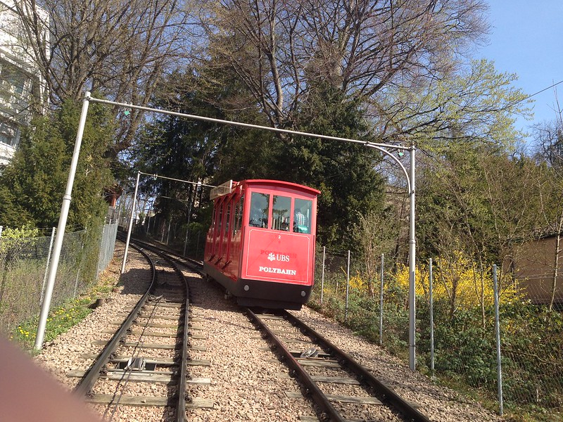 Zurich Polybahn - up the hill by furnicular 13311531094_06eeced063_c