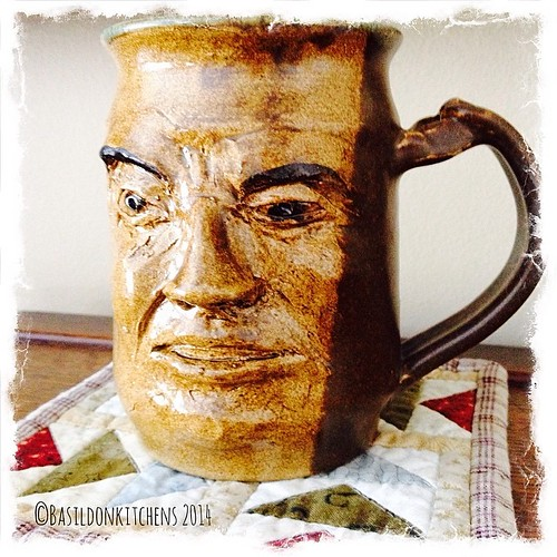 24/3/2014 - one if a kind {this is a hand sculpted face-mug} It is definitely an original. It is a great piece of pottery as well as a wonderful conversation piece  #fmsphotoaday #oneofakind #mug #face #pottery