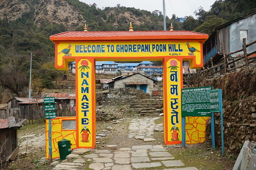 Ghorepani Village Entrance