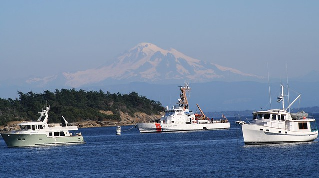 CG Buoy Tender at Sucia Island, Echo Bay