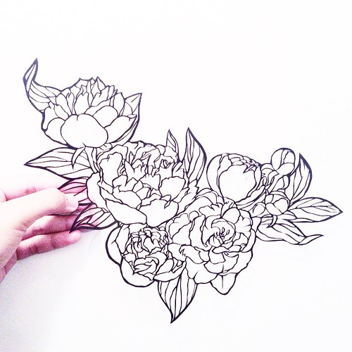 Floral Paper Cutting by Crissy Tioseco