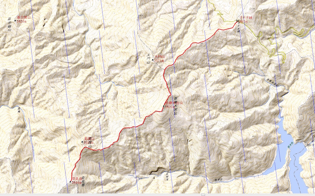 赤摩木古山〜見越山〜奈良岳縦走 山行データ