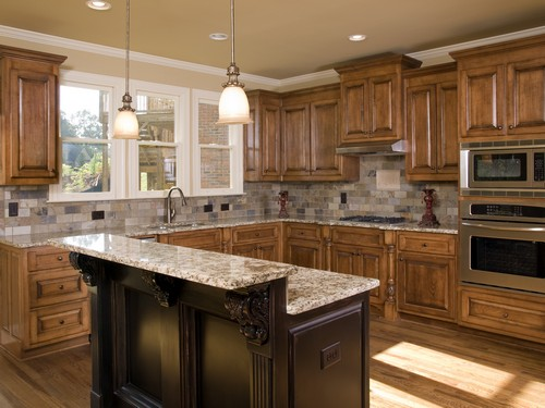 Luxury Kitchen area two tier island