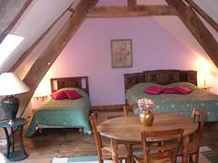 Gîte La Bourousais 35330 Maure de Bretagne : chambre harmonie