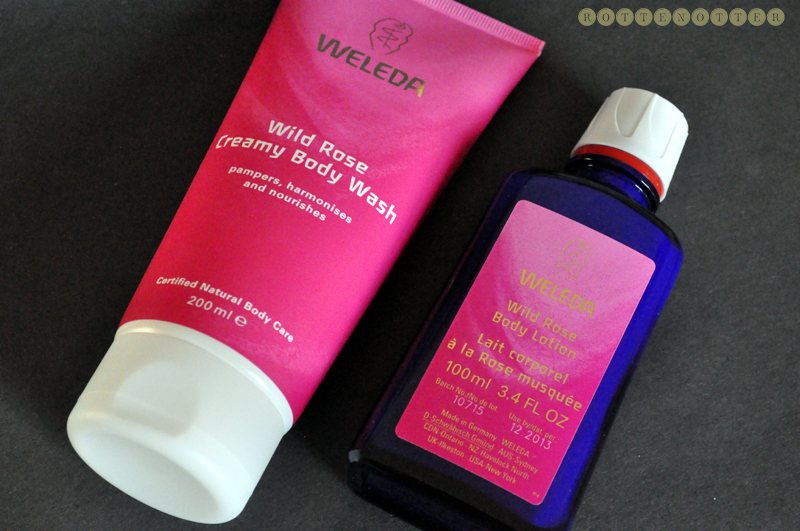weleda rose duo shower gel body lotion gift set christmas 01