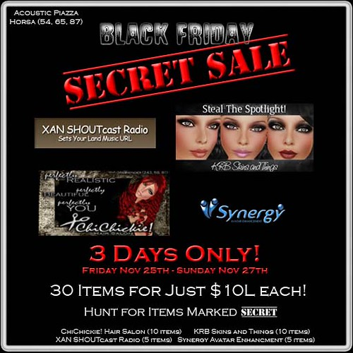 BLACK FRIDAY SECRET SALE!! by Cherokeeh Asteria