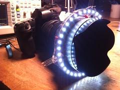 Lasercut LED ring light