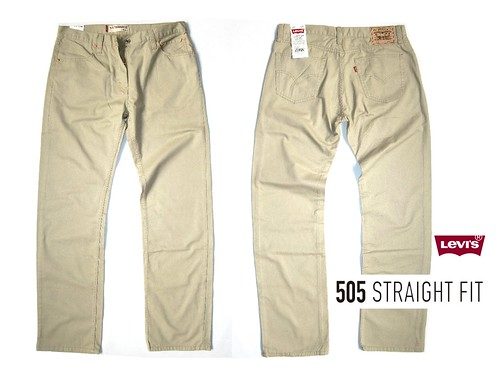 LEVIS 505 STRAIGHT CUT BEIGE SHELFLIFE