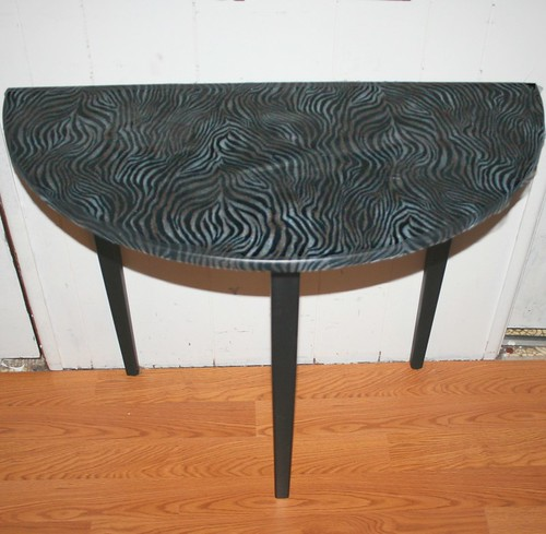 Half Round Hall Table   by Rick Cheadle Art and Designs