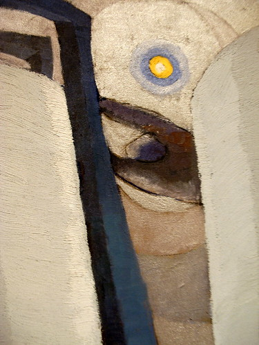 Silver Tanks and Moon by Arthur Dove