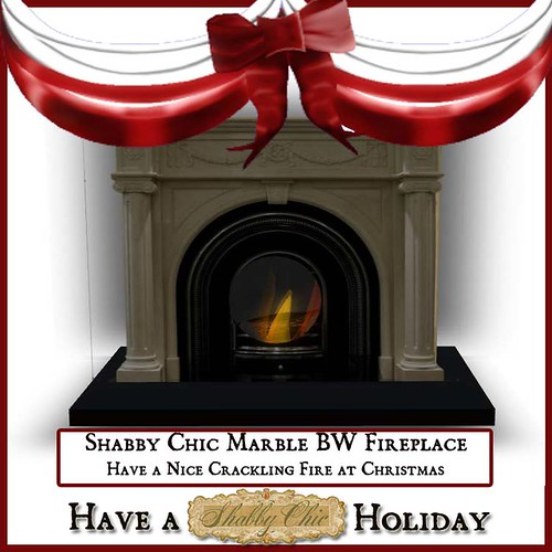 Shabby Chic Marble BW Fireplace by Shabby Chics