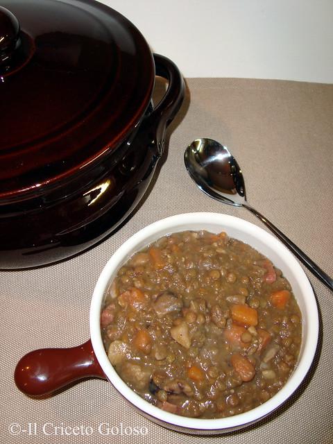 Zuppa di castagne, carote e lenticchie