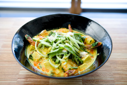 yellow curry, shrimp and tofu by TAKE A BAO