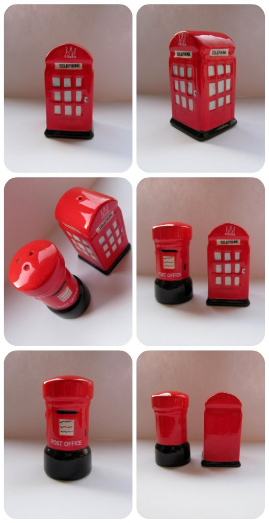 Telephone Box and Post Box Salt and Pepper Shakers