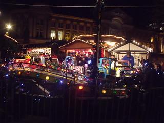 Birmingham Frankfurt Christmas Market - children's ride with cars
